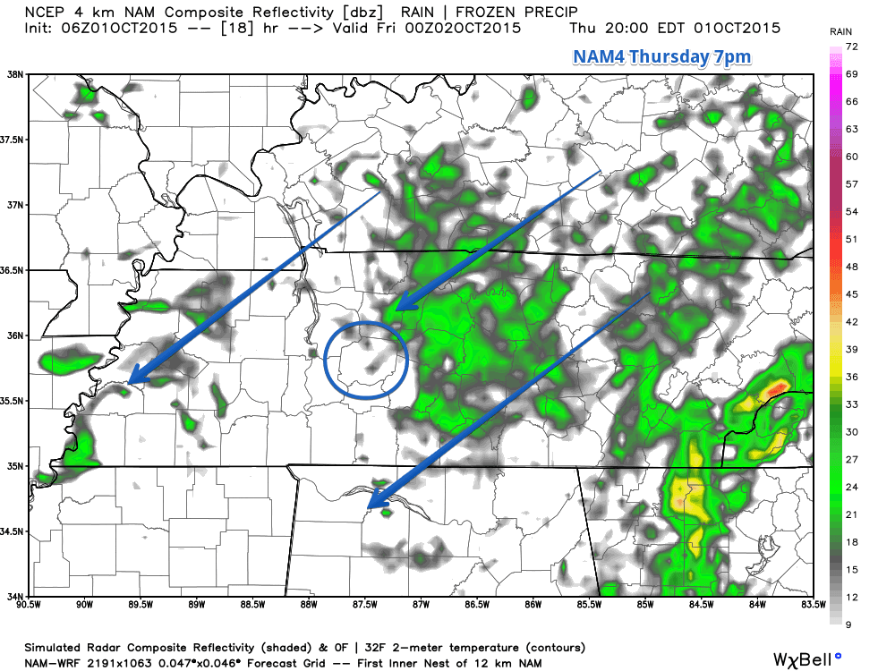 NAM4 Model Thursday 7pm